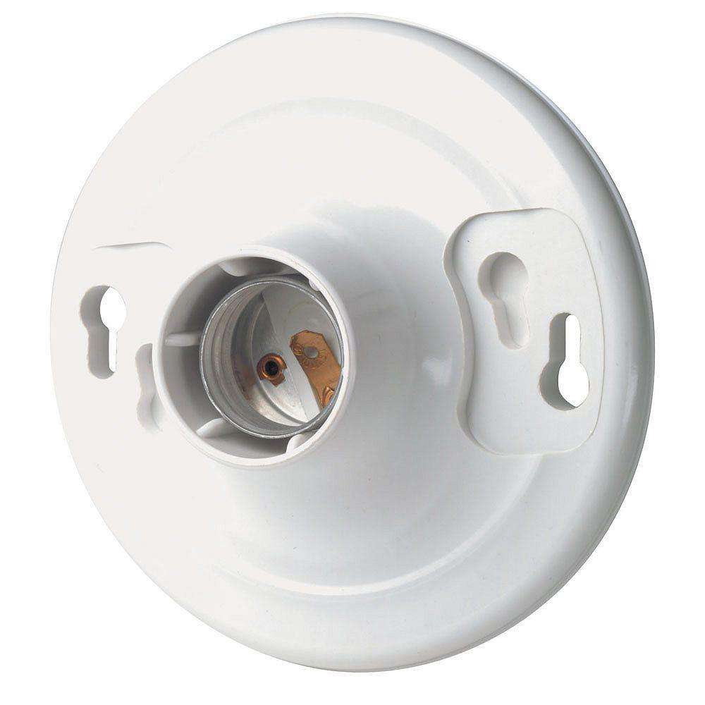 Leviton Keyless Lamp holder, White