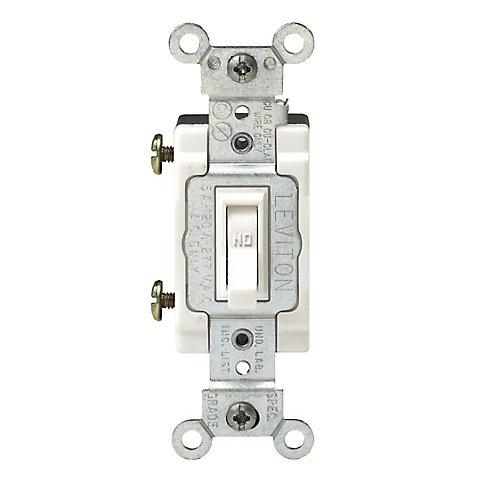Framed Toggle Single-Pole Switch , White