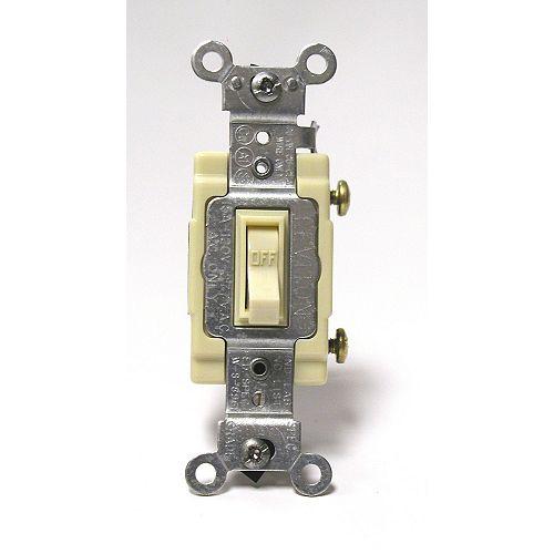 Framed Toggle Single-Pole Switch , Ivory