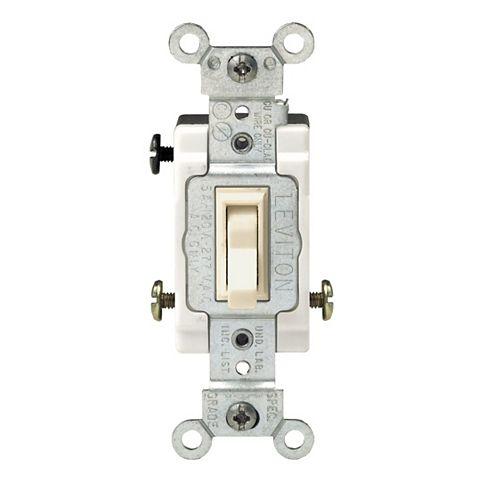 Framed Toggle 3-Way Switch, Ivory