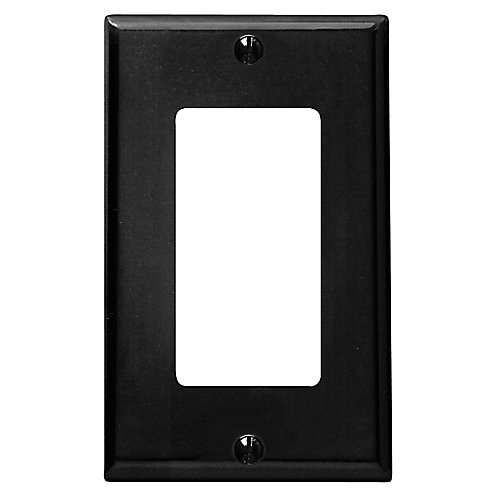 Plaque Decora, Un Dispositif, Noir