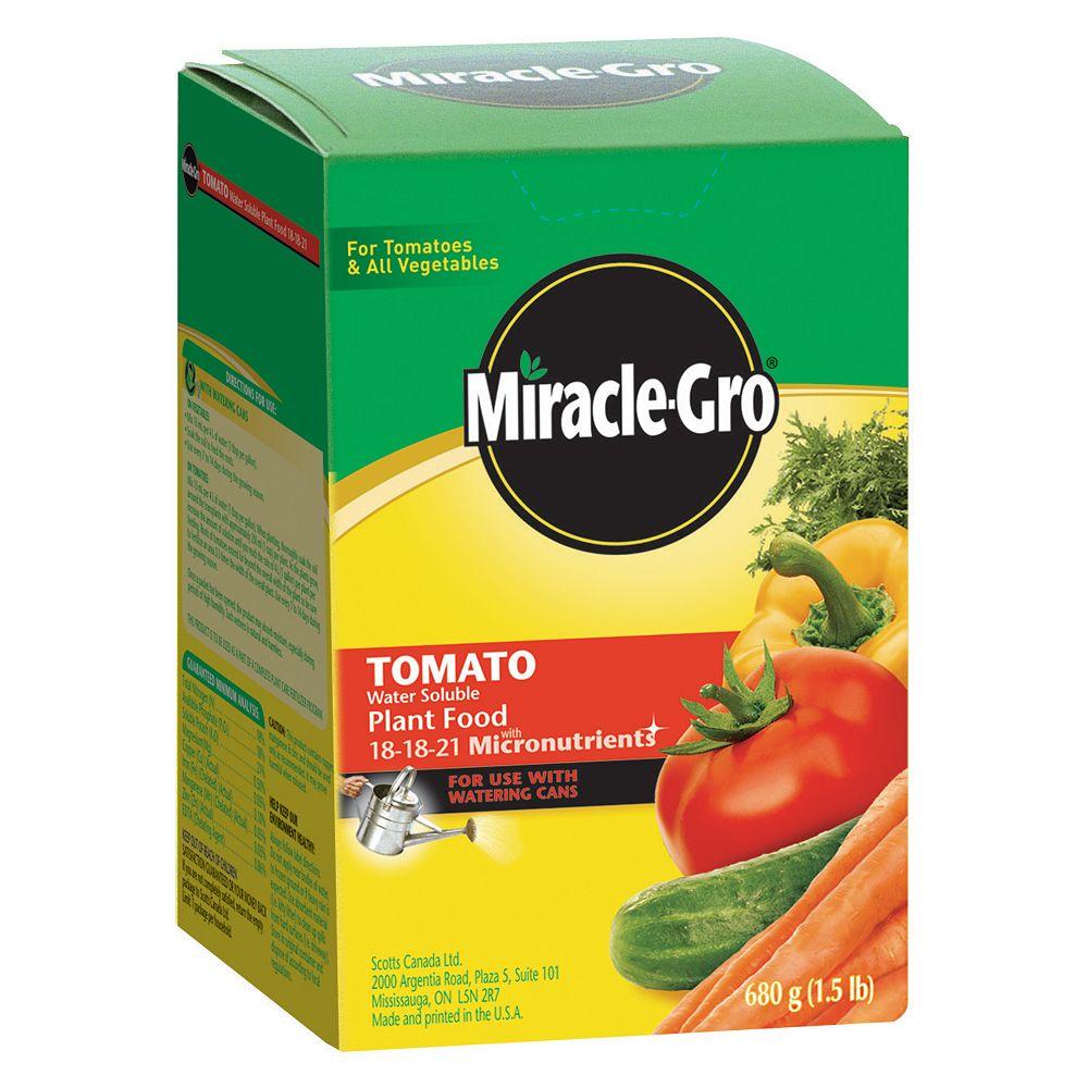 Miracle-Gro Engrais hydrosoluble Miracle-Gro pour tomates 18-18-21