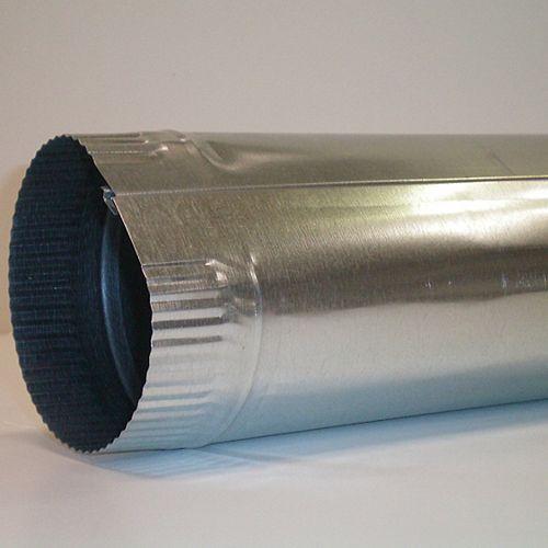 Snaplock Pipe 6 In. x 30 In., 30 Galvanized
