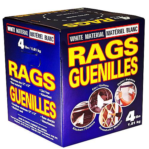 White Rags, 4 lbs.