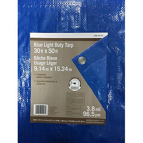 Blue Light Duty Tarp 30ft x 50ft