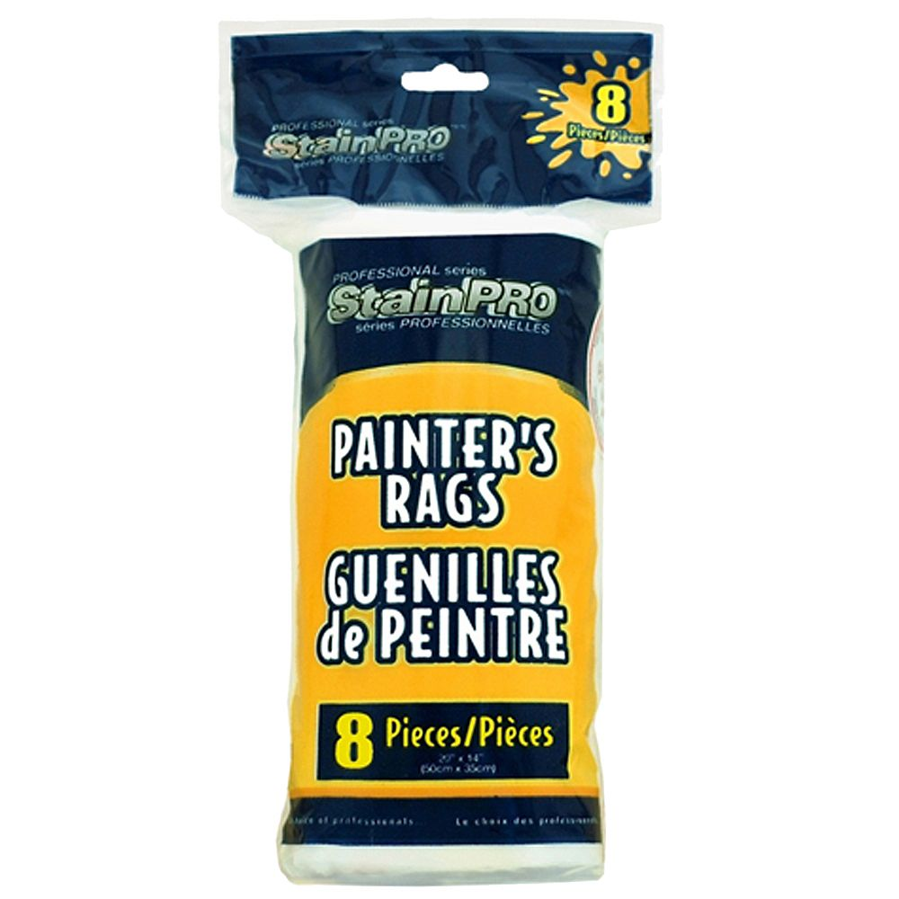 Stain Pro Painters White Rags (8-Pack)