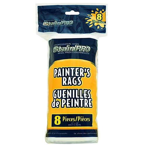 Painters White Rags (8-Pack)