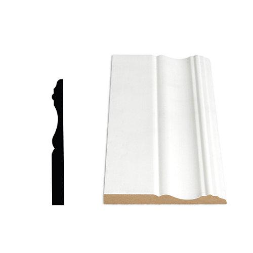 3/8-inch x 3 7/8-inch x 96-inch Colonial MDF Primed Fibreboard Baseboard Moulding