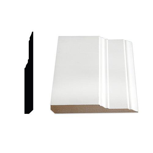 5/8-inch x 5 1/2-inch x 96-inch Colonial MDF Primed Fibreboard Baseboard Moulding