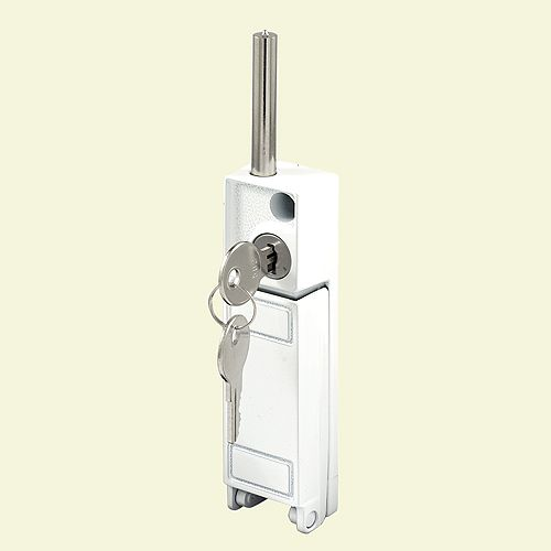 White, Sliding Patio Door Keyed with Bolt Lock