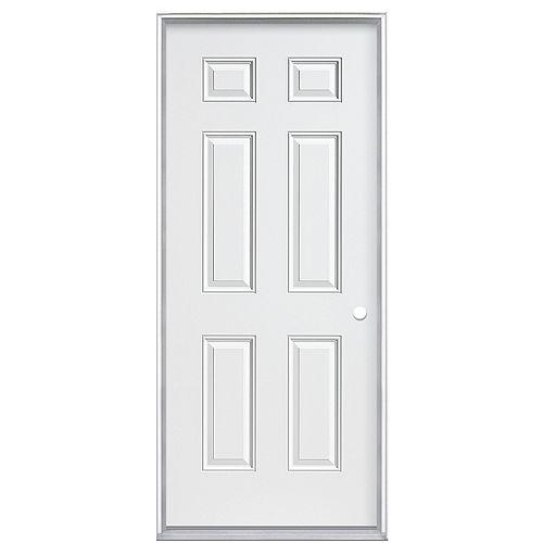 32-inch x 80-inch x 4 9/16-inch Primary 6-Panel Left Hand Door