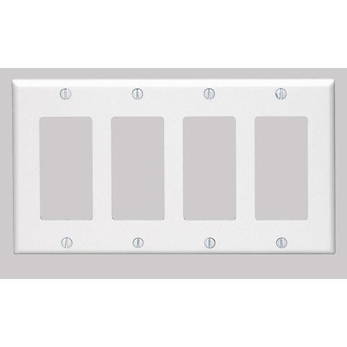 Plaque Decora, Quatre Dispositifs, Blanc
