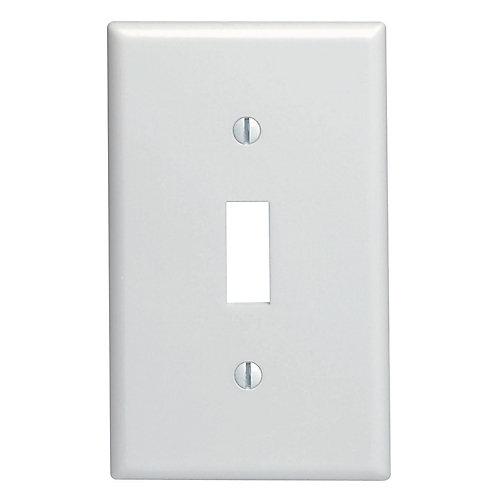 Plaque murale pour un interrupteur à bascule, blanc