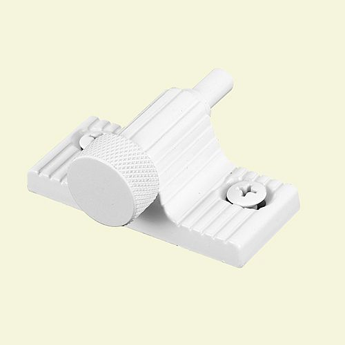 2-1/4 in., White Plastic, Wrap Around spring-loaded Tilt Latch