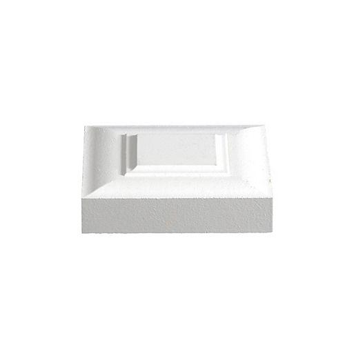 Primed Fibreboard Victorian Corner Block 1 In. x 3-3/4 In. x 3-3/4 In.