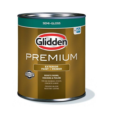 Exterior Paint + Primer Semi-Gloss - Medium Base 900 mL