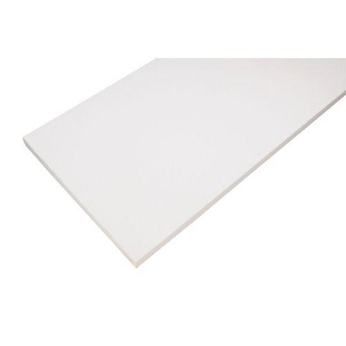 Tablette en bois de base, 10 x 36 po, blanche