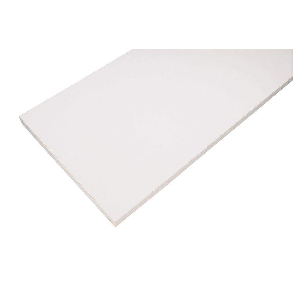 Rubbermaid Tablette en bois de base, 10x 48po, blanche
