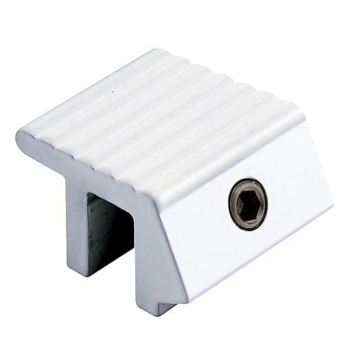 Sliding Window Lock, Tamper Resistant, White Finish