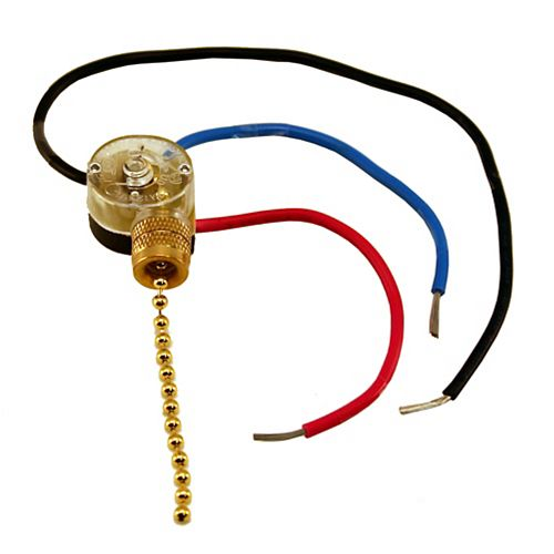 3 Way Fan Switch with Pull - 3 wire