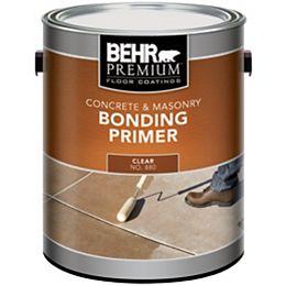 BEHR PREMIUM Floor Coatings Concrete & Masonry Bonding Primer, 3.79 L