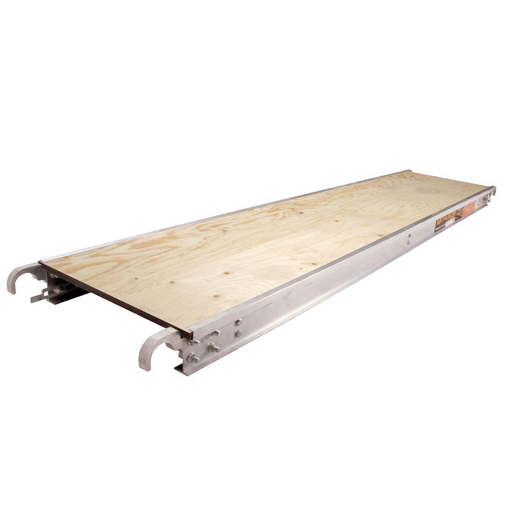 Metaltech Metaltech Plate-forme d'Échafaudage en Aluminium avec plache de contreplaqué /  7 Pieds