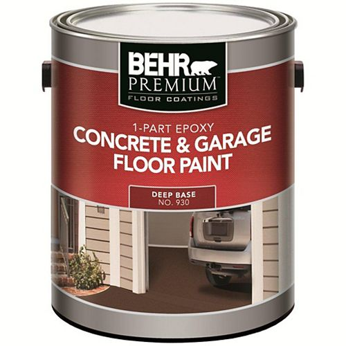FLOOR COATINGS 1-Part Epoxy, Concrete & Garage Floor Paint, Deep Base, 3.43 L