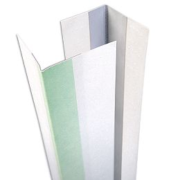 Perle de coin extérieur en métal recouvert de papier de la CCG, B1W 9/16 po x 13/16 po, jambe inégale, 8 pi