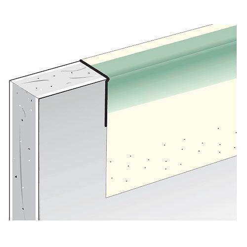 Garniture métallique à surface de papier de la CCG, B4 1/2 po en forme de L, 8 pi