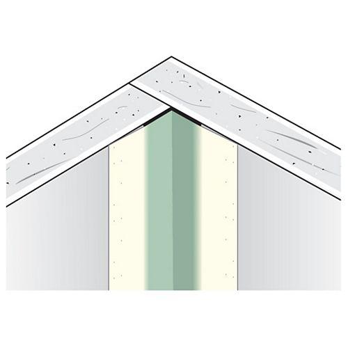 Sheetrock Cornière intérieure en métal à surface de papier de la CCG, B2 3/8 po x 3/8 po, 90 degrés, 8 pi