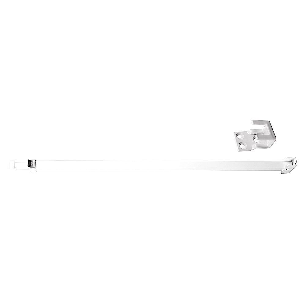 Prime-Line Barre de sécurité, 28 po à 48 po, aluminium, blanc