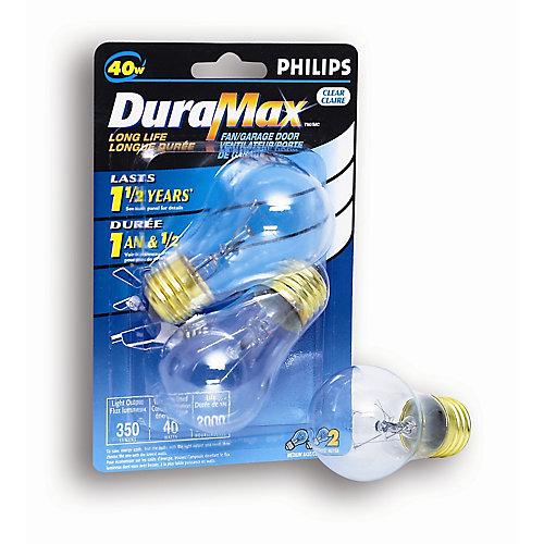 40W Clear Fan/Garage Door Light Bulb (2-Pack)
