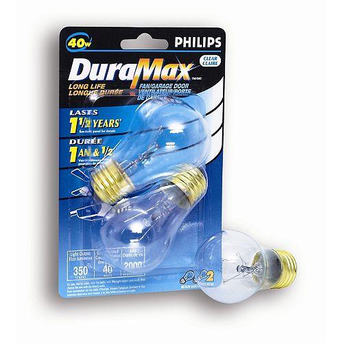 Ampoule pour porte de garage ou ventilateur, 40 W, transparent, ens. de 2