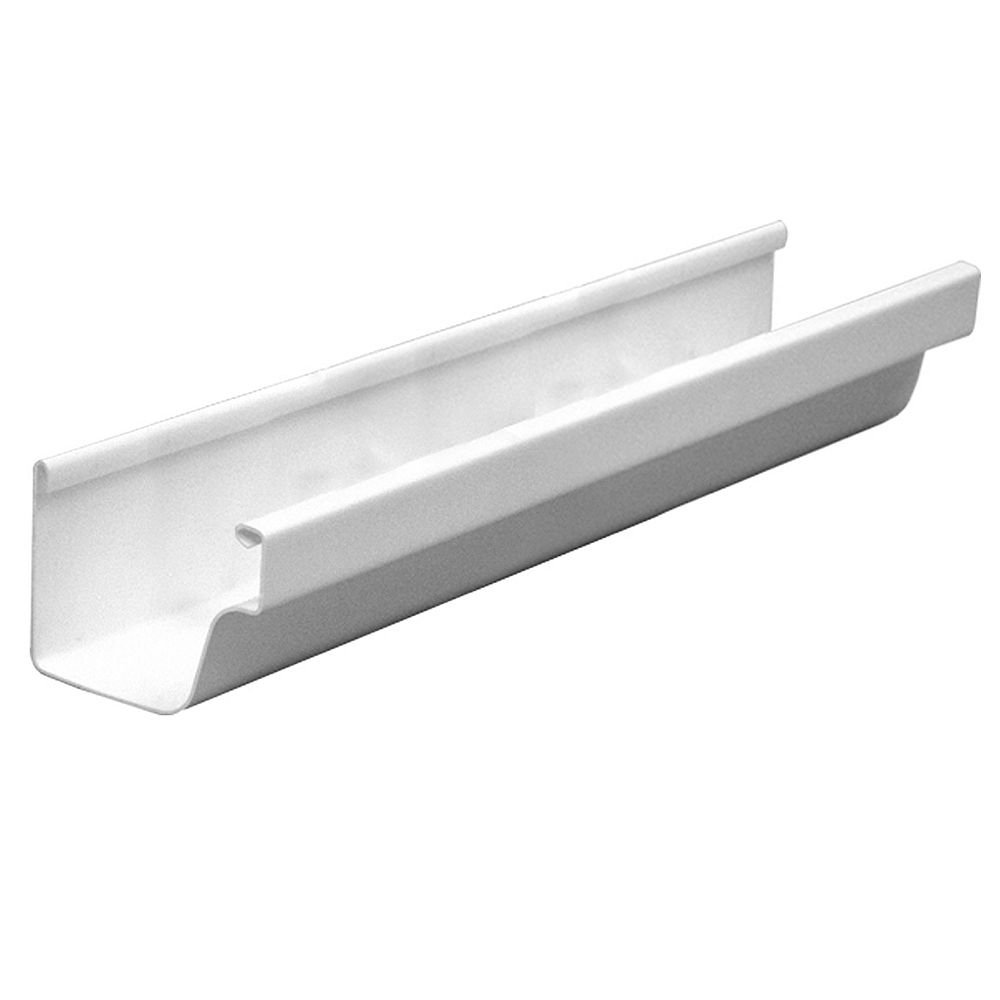 Euramax Canada 10 Ft White Traditional Vinyl Gutter The Home Depot Canada