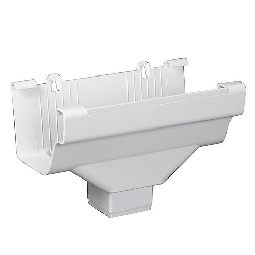 Drop Outlets Traditional White Vinyl