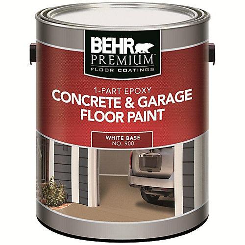 1-Part Epoxy Acrylic Concrete & Garage Floor Paint - White, 3.61L