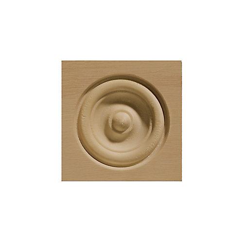 Rosette de Coin Biseautée en Chêne - 2 1/2 x 2 1/2 po