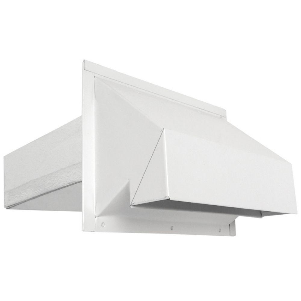 Imperial Évent d'évacuation/d'entrée d'air mural de style R2 - Blanc 3-1/4x10 pouce