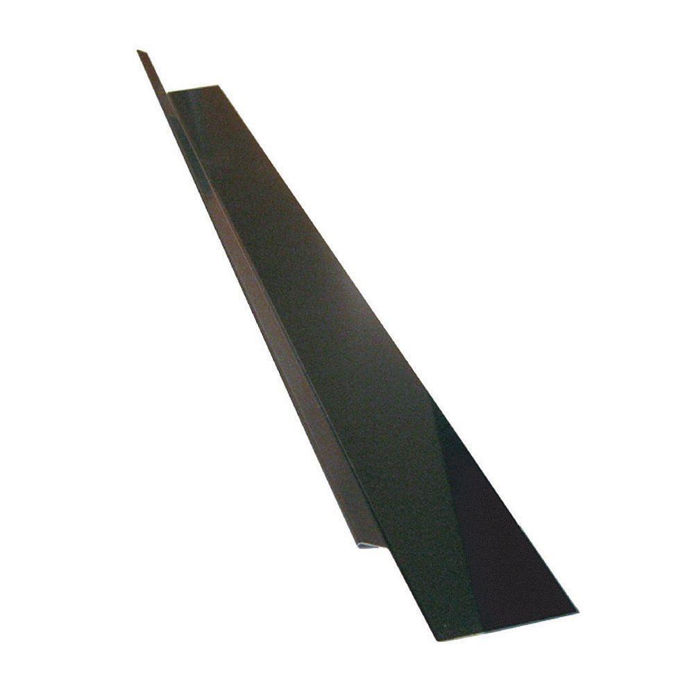 Peak Products Drip Flashing, 120 x 1-1/4 x 3/8 In. - Brown Galvanized