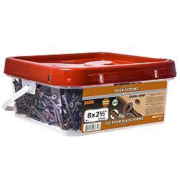 1,200-Piece 8 x 2-1/2-inch Brown Deck Screws