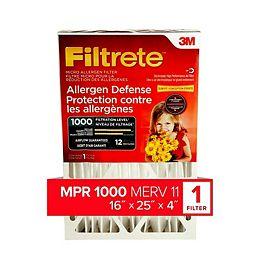 16-inch x 25-inch x 4-inch Allergen Reduction MPR 1000 Deep Pleated Filtrete Furnace Filter