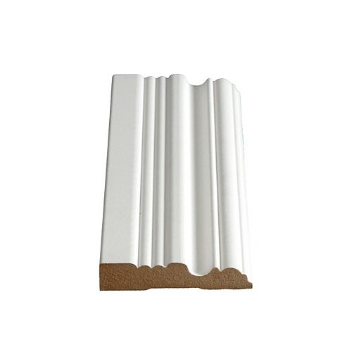 Alexandria Moulding 3/4-inch x 3 1/2-inch x 96-inch MDF Primed Fibreboard Double Bead Casing
