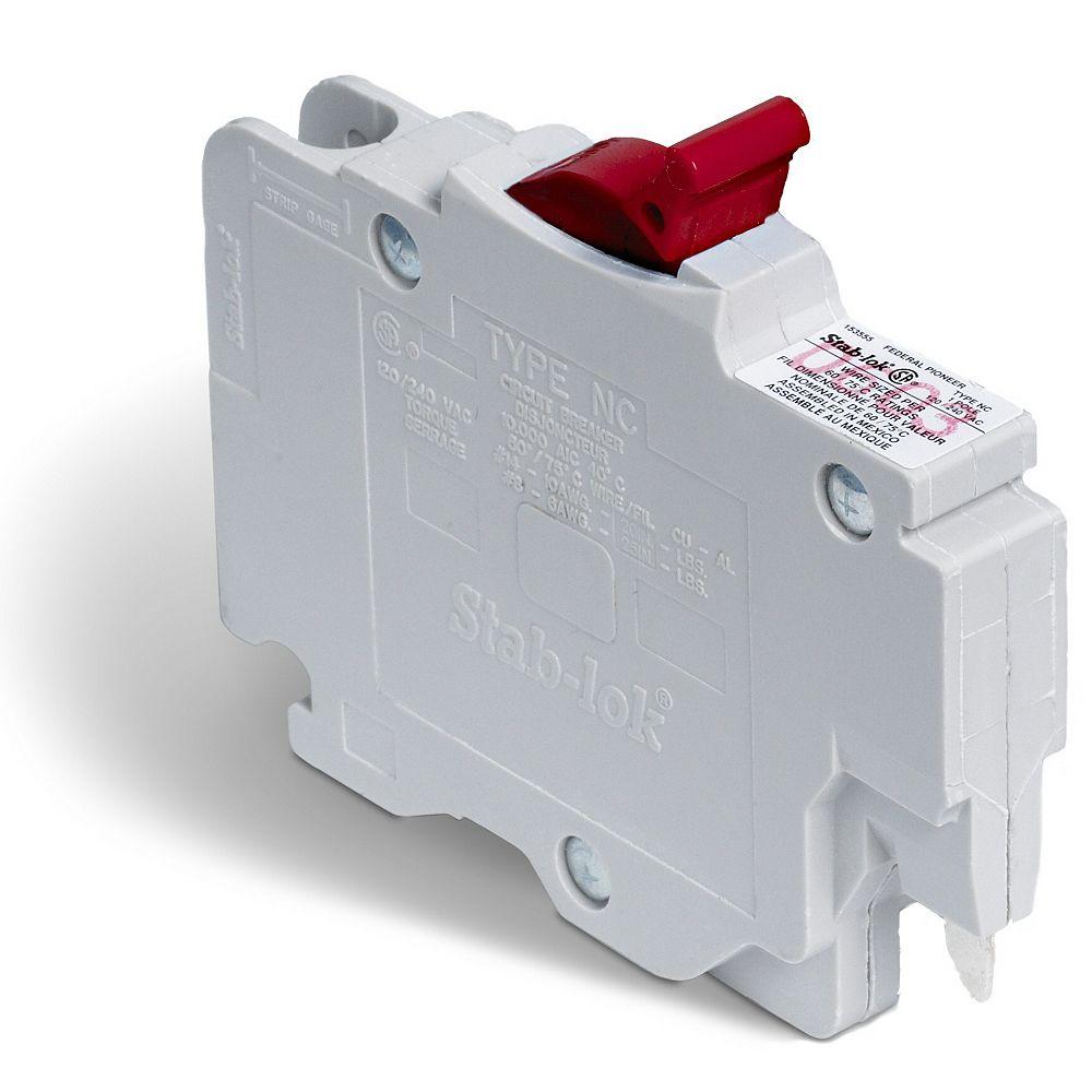 Schneider Electric Disjoncteur enfichable (NC) Stab-lok  de 20A unipolaire
