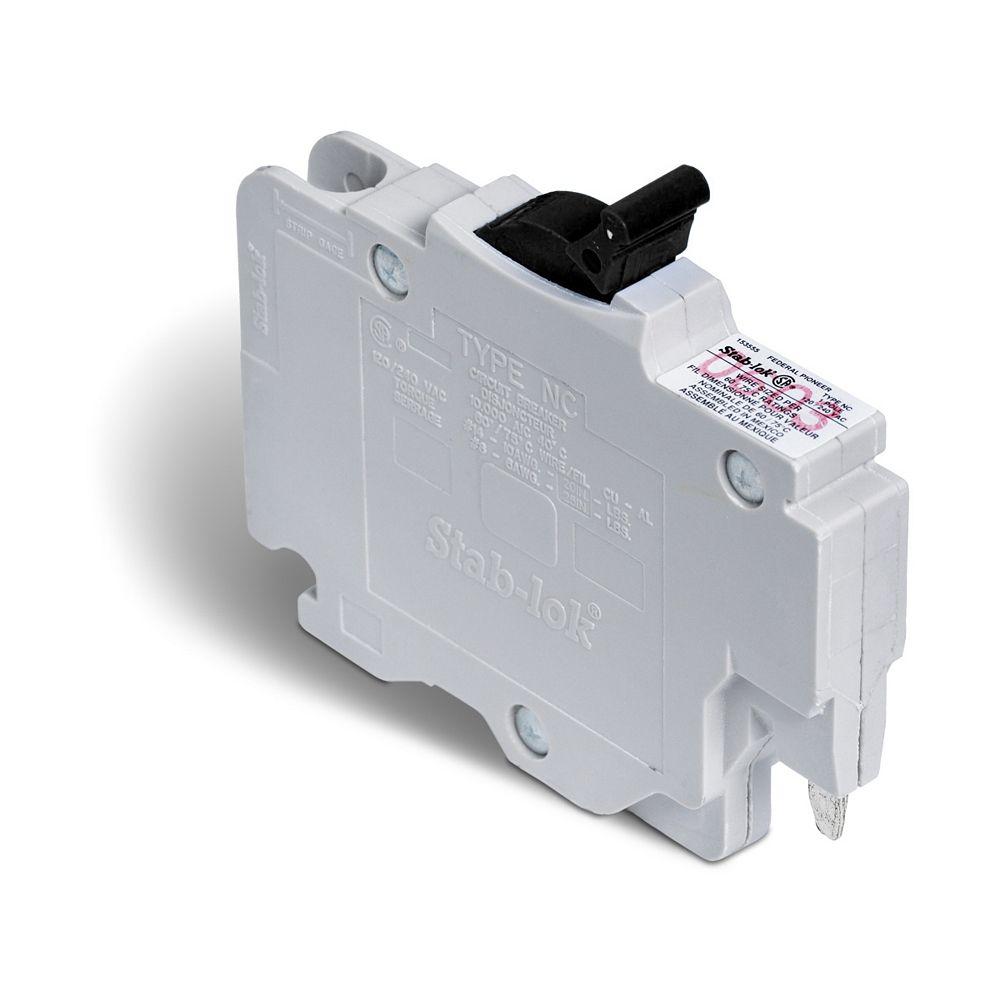 Schneider Electric Disjoncteur enfichable (NC) Stab-lok  de 15A unipolaire