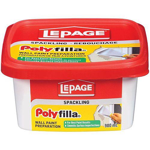 LePage Polyfilla Préparation De Mur À Peinturer, 900 ml