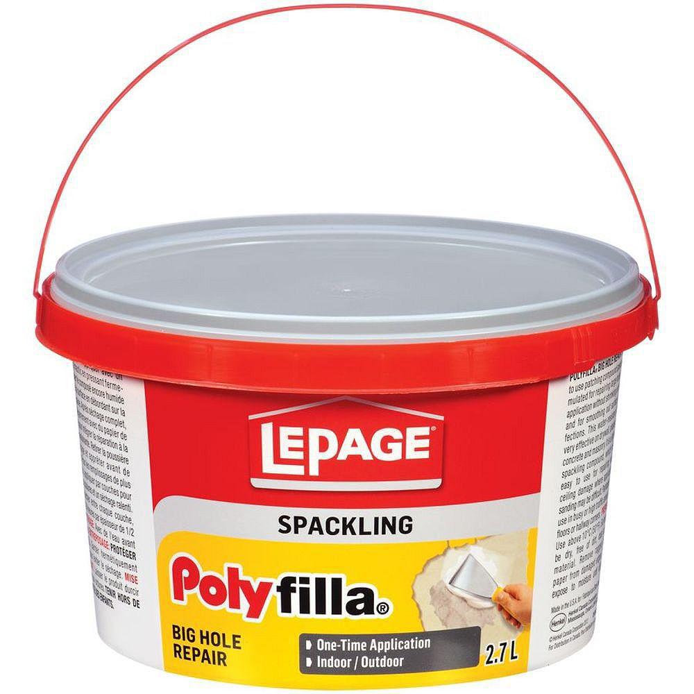 LePage LePage Polyfilla Remplissage De Gros Trous, 2.7 l
