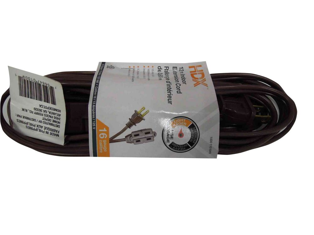 Hdx Extension Cords The Home Depot Canada