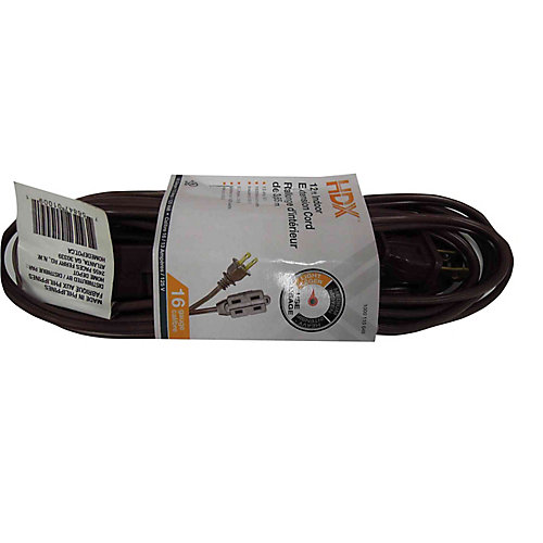 12 ft. Indoor Extension Cord in Brown