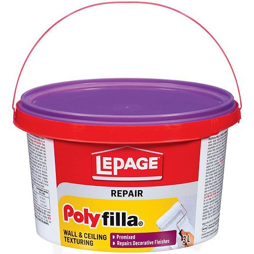 LePage Polyfilla pour Texturer Murs et Plafonds 3L