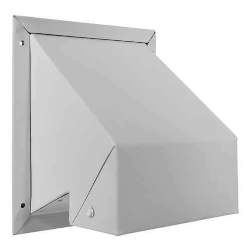 White R2 Wall Exhaust Cap With Screen - 4 Inch